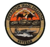 Operation Iraqi Freedom Veteran Small Patch
