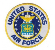 US Air Force Small Patch Military Collectibles, Patriotic Gifts for Men, Women, Teens, Veterans Great Gift Idea for Wife, Husband, Relative, Boyfriend, Girlfriend, Grandparent, Fiance or Friend. Perfect Christmas Stocking Stuffer or Veterans Day Gift I ..