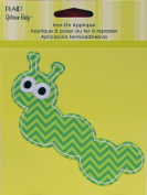 Uptown Baby 34321 Printed Fabric Iron on Appliques, Medium, Caterpillar
