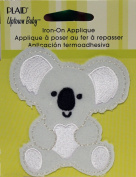 Uptown Baby 70709 Plush Fabric Iron on Appliques, Koala