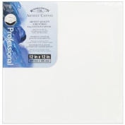 Winsor Newton 30cm by 30cm Artists Quality Stretched Canvas, White, 1 Per Package