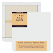 CanvasLot 17x17 Square Pre Stretched Blank Canvases