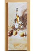 Giftcraft Stretched Canvas Wine Bottle Print