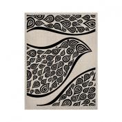 Kess InHouse Pom Graphics Bird in Disguise White KESS Naturals Canvas Artwork, 60cm by 90cm