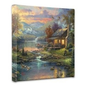 Thomas Kinkade Nature's Paradise 36cm x 36cm x 1.13cm canvas wrap