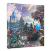 Thomas Kinkade Cinderella Wishes upon a Dream 36cm x 36cm x 1.13cm canvas wrap