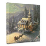 Thomas Kinkade Sunday Evening Sleigh Ride 36cm x 36cm x 1.13cm canvas wrap