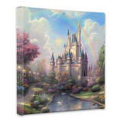 Thomas Kinkade New Day at Cinderella's Castle 36cm x 36cm canvas wrap