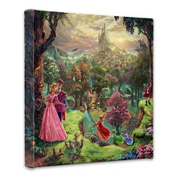 Thomas Kinkade Sleeping Beauty 36cm x 36cm x 1.13cm canvas wrap
