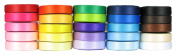 HipGirl Boutique 25 x 5yd 1cm Double Faced Satin Ribbon for Hair Bows, Hairbow Clips, Headbands, Floral and Gift Wrapping