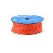 Berwick 3.8cm Wide by 10-Yard Spool Wired Edge Saddle Craft Ribbon, Orange