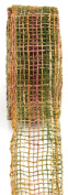 Kel-Toy Mixed Colour Jute Burlap Ribbon Roll, 5.1cm by 10-Yard, Olive/Burgundy/Rust