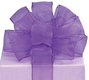 Sheer Purple Wired Ribbon #9 3.8cm X 20 Yards Florist