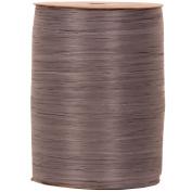 Dark Grey (Grey) 100 Yard Spools of Wraphia (Wraffia) Ribbon - Sold individually