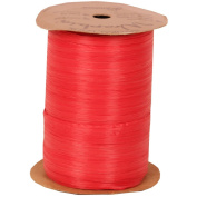Red 100 Yard Spools of Wraphia (Wraffia) Ribbon - Sold individually