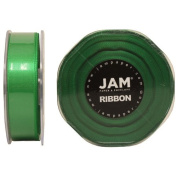 Emerald Green Satin 2.2cm thick x 25 yards Spool of Double Faced Satin Ribbon - Sold individually
