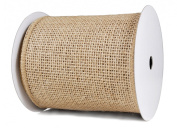 Burlap Ribbon, 6.4cm X 10 Yards, Wired Edges