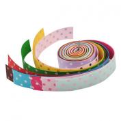 YazyCraft Multi-coloured Polka Dot 2.2cm Ribbons 10 rolls