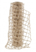 Burlap Ribbon 25cm X5Y Net Natural Wired