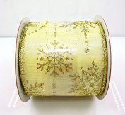 Jo-ann's Holiday Inspirations Gold Glitter Stars Ribbon,wire Edge,6.4cm x 12ft.