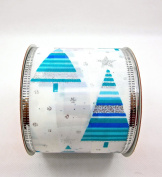 Jo-ann's Holiday Inspirations Christmas Tree Ribbon,contempory Tree,wire Edge,6.4cm x 12ft.