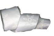 Renaissance 2000 Ribbon, 6.4cm , White Snowflake