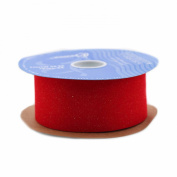 Berwick Fibre Veltex Craft Ribbon, 6.4cm by 20-Yard Spool, Brick Red