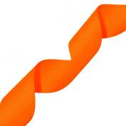 Morex Ribbon Neon Grosgrain Ribbon, 3.8cm by 20-Yard, Neon Tangerine