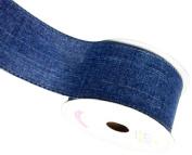 LUV RIBBONS Fabric Ribbon by Creative Ideas, 5.1cm , Canvas Glam, Denim