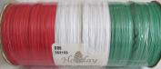 Holiday Elegance SPOOL of WRAPHIA RIBBON 50 FEET Long MULTI colour w RED, WHITE & GREEN Colours