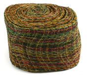 Kel-Toy Mixed Colour Jute Burlap Ribbon Roll, 10cm by 10-Yard, Green/Burgundy/Yellow