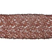 Vickerman 78210cm - 6.4cm x 10yd Chocolate Glitter Mesh Ribbon
