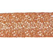 Vickerman 78200cm - 6.4cm x 10yd Burnished Orange Glitter Mesh Ribbon