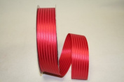 Reliant Ribbon 5800-065-09C Tuxedo Stripe Decorative Ribbon, 3.5cm by 100-Yard, Red
