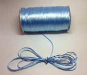 "200 Yards(600 Feet) - 2mm(1/16"") Blue Mist Satin Rattail Cord Chinese/china Knot Rat Tail Jewellery Braid 100% Polyester"