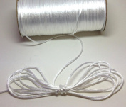 "200 Yards(600 Feet) White - 2mm(1/16"") Satin Rattail Cord Chinese/china Knot Rat Tail Jewellery Braid 100% Polyester"