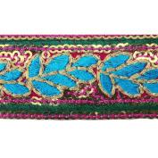 Traditional Ribbon Garment Fabric Trim Handmade Sequin Dress Border Lace 1 Yd