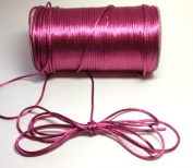 """200 Yards(600 Feet) - 2mm(1/16"""") Colonial Rose Satin Rattail Cord Chinese/china Knot Rat Tail Jewellery Braid 100% Polyester"""