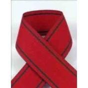 Schiff Ribbons 44208-5 Tuxedo Stripe 2.2cm Fabric Ribbon, 50-Yard, Red/Green Stripes