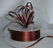Ribbon - Satin Ribbon- 0.3cm Double Face 100 Yards (300 FT) - Brown - Sewing - Craft - Wedding Favours