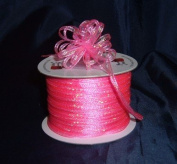 Organza Pull Ribbon Bows - 0.3cm - 100 Yards - Hot Pink