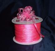 Organza Pull Ribbon Bows - 0.3cm - 100 Yards - Hot Pink