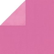 Double Dot Double-Sided Textured Design Cardstock 30cm x 30cm -Pink Punch- 25 Pack