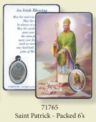Rosarybeads4u St Saint Patrick Coloured Medal Pendant Verse Prayer Card