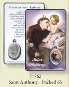 Rosarybeads4u St Saint Anthony Coloured Medal Pendant Verse Prayer Card