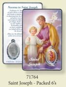 Rosarybeads4u St Saint Joseph Coloured Medal Pendant Verse Prayer Card