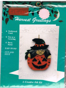 Harvest Greetings Felt Witch Card
