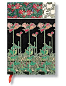 Paperblanks Mucha Journals Papaver Mini, 10cm . x 14cm . 176 pages, unlined