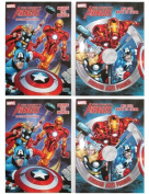 "Marvel Mighty Avengers (4 Pack) 96 pg Colouring & Activity Book ""Heroes Join Forces"" & ""Saving The World"""