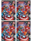 "Marvel Mighty Avengers (4 Pack) 96 pg Colouring & Activity Book ""Saving The World"""